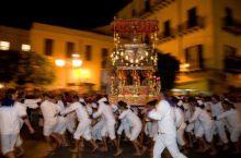 Oslavy svátku sv. Angela na Sicílii